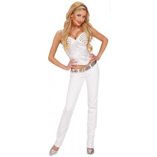 Party Kleding Dames.Sexy Dames Korset In Het Wit Voor Een Seventies Party